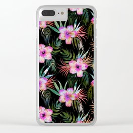 Honolua Tropic Black Clear iPhone Case
