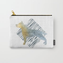 Modern American Staffordshire Terrier Dog Watercolor Stripes Carry-All Pouch