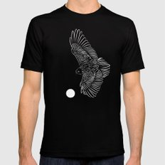 Beyond The Moon MEDIUM Black Mens Fitted Tee