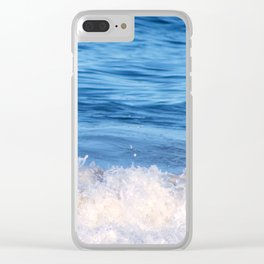 Ocean Froth Clear iPhone Case