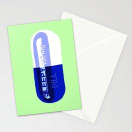 Sleepy Pill Mint Stationery Cards