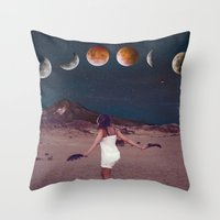 planets Throw Pillows featuring Planets by Cs025