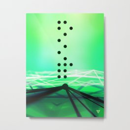 Green Abstract Passion Metal Print
