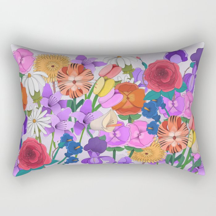 Party in the Garden Rectangular Pillow