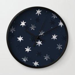 Stamped Star Pattern Wall Clock