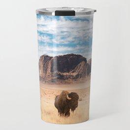 The Lonely Bison, Salt Lake City, Utah-Desert Landscape Travel Mug