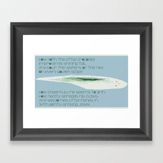 How Doth the Little Crocodile Framed Art Print