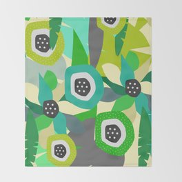Bright tropical vibe Throw Blanket