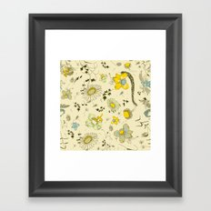 large flowers - cream and yellows Framed Art Print