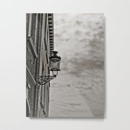 Lonely Lamp Under A Gray Sky Metal Print