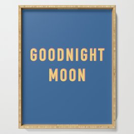 Goodnight Moon, Digital Download, Retro Aesthetic, Fun, Funky, 90s vintage wall art, bedroom, nurser Serving Tray