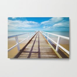 Ocean  Pontoon Metal Print