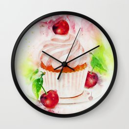 Cupcake Art Wall Clock