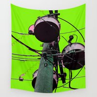 industrial Wall Tapestries featuring Industrial Electric Musings by Jeffrey J. Irwin