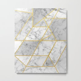 Shattered Marble 2 Metal Print