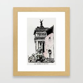 The lovers of the Capitoline Hill - Rome Framed Art Print