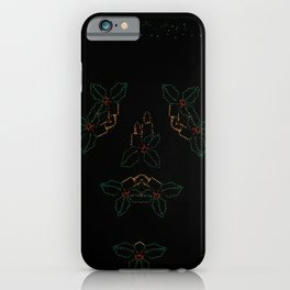 Continuous Christmas Candles iPhone Case