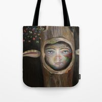 tree of life Tote Bags featuring Tree Life by Fizzyjinks