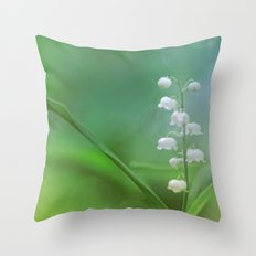 lily of the valley... Throw Pillow