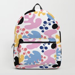 colorful leafs pattern, Matisse style Backpack