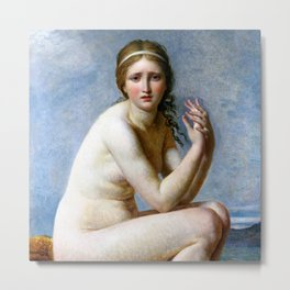 "Jacques-Louis David ""Psyche abandoned"" Metal Print"