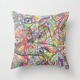 Basura Cerebro Throw Pillow