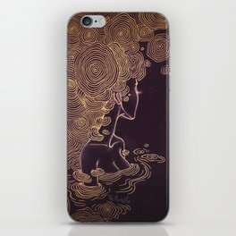 Ripples of Gold iPhone Skin