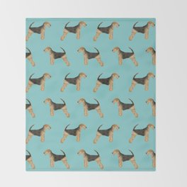 Airedale Terrier pattern dog breed cute custom dog pattern gifts for dog lovers Throw Blanket
