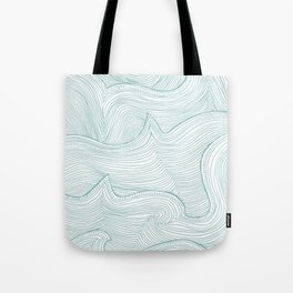 seafoam wave pattern Tote Bag