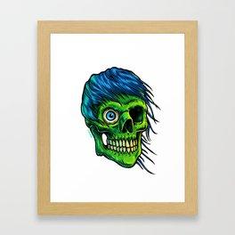 Green Zombie Framed Art Print