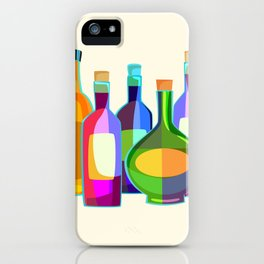 Colored Glass Bottles iPhone Case