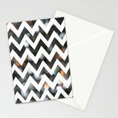 Chevron Glitter Stationery Cards
