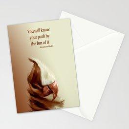 "Posh Parrot ""ChocVan Swirl"" Stationery Cards"