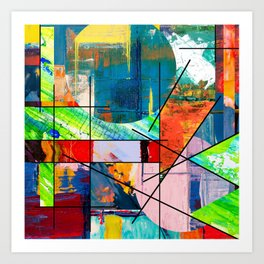 Escape Reality - Abstract Expressionism Art Print