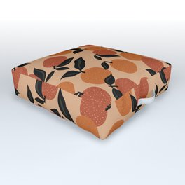 Seamless Citrus Pattern / Oranges Outdoor Floor Cushion