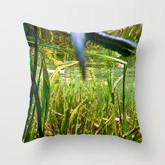 Submerged Grass Throw Pillow