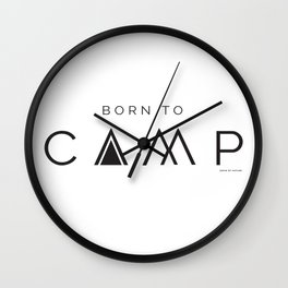 Camp with Sons Of Nature Wall Clock