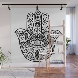 The hamsa hand Wall Mural