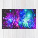 Fox Fur Nebula Galaxy Pink Purple Blue by vintageby2sweet
