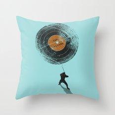 Record Breaker Throw Pillow