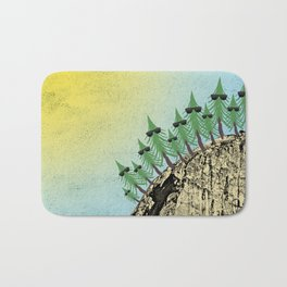 Sunning Trees Print Bath Mat