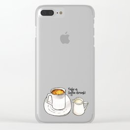 Coffee Break Watercolor and Ink Illustration Clear iPhone Case