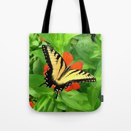Butterfly on Zinnia 3 Tote Bag
