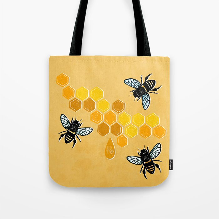 """""""Honeybees"""" Tote Bag"""