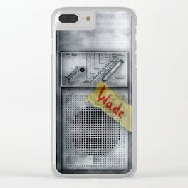 Antique Radio Transmission Clear iPhone Case