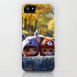 Honey & Robin - Autumn nature iPhone Case