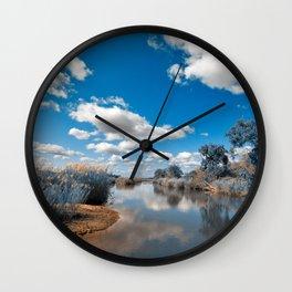 Kruger Park Landscape - Winter Blue Wall Clock