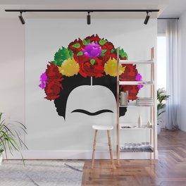 Frida minimalist flowers Wall Mural