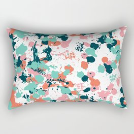 Freestyle Paint Cool Colors Rectangular Pillow