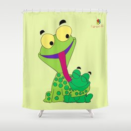 Froggy's Father's Day Shower Curtain